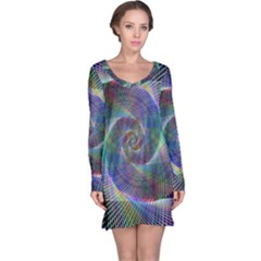 Psychedelic Spiral Long Sleeve Nightdress