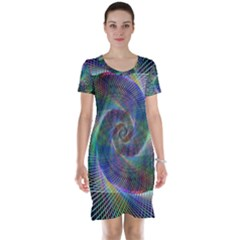 Psychedelic Spiral Short Sleeve Nightdress
