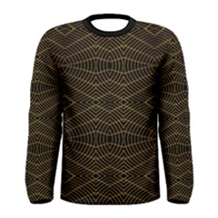 Futuristic Geometric Print Long Sleeve T-shirt (Men)