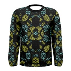 Ornamental Abstract Dark Long Sleeve T-shirt (Men)