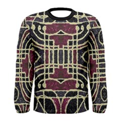 Tribal Grunge Print Long Sleeve T-shirt (Men)