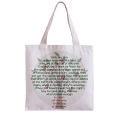 Girls Are Like Apples Grocery Tote Bag