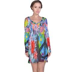 The Sixties Long Sleeve Nightdress