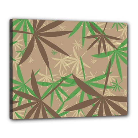 Leaves Canvas 20  X 16  (stretched)
