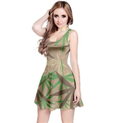 Leaves Sleeveless Dress