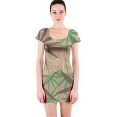 Leaves Short sleeve Bodycon dress