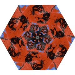 Orange blue black texture Umbrella