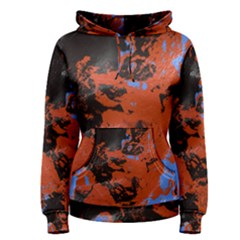 Orange blue black texture Pullover Hoodie