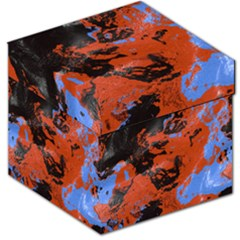Orange Blue Black Texture Storage Stool