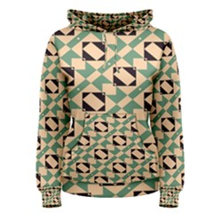 Brown green rectangles pattern Pullover Hoodie