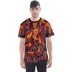 On Fire Print Men s Sport Mesh Tee