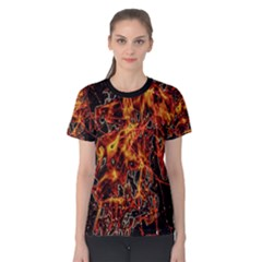 On Fire Print Women s Cotton Tee