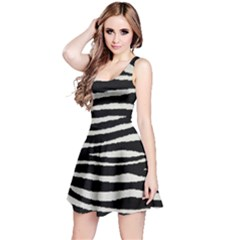 Black White Tiger  Sleeveless Dress