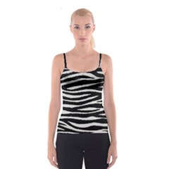 Black White Tiger  Spaghetti Strap Top
