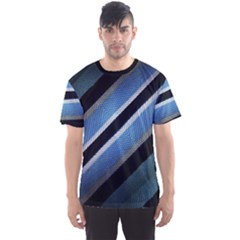 Geometric Stripes Print Men s Sport Mesh Tee