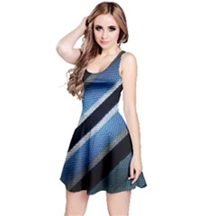 Geometric Stripes Print Sleeveless Dress