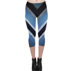 Geometric Stripes Print Capri Leggings