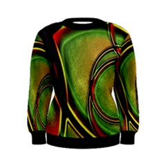 Multicolored Abstract Print Women s Sweatshirt