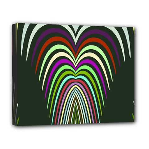 Symmetric Waves Deluxe Canvas 20  X 16  (stretched)