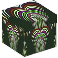 Symmetric waves Storage Stool