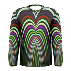 Symmetric waves Men Long Sleeve T-shirt