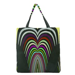 Symmetric waves Grocery Tote Bag