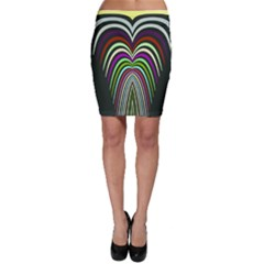 Symmetric waves Bodycon Skirt
