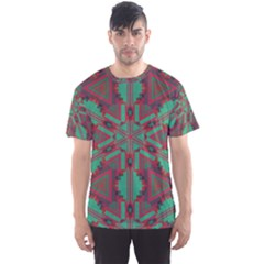 Green tribal star Men s Sport Mesh Tee