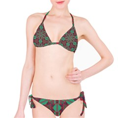 Green tribal star Bikini set