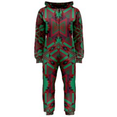 Green tribal star Hooded OnePiece Jumpsuit