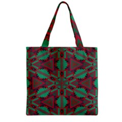 Green Tribal Star Grocery Tote Bag