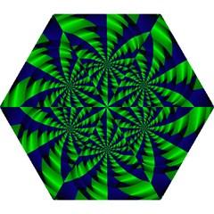 Green blue spiral Umbrella