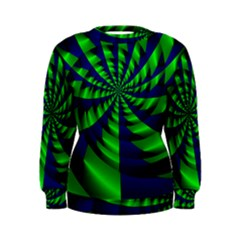 Green blue spiral Sweatshirt