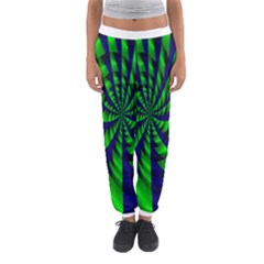 Green blue spiral Women s Jogger Sweatpants