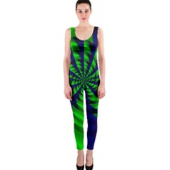 Green Blue Spiral Onepiece Catsuit