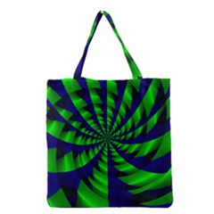 Green blue spiral Grocery Tote Bag