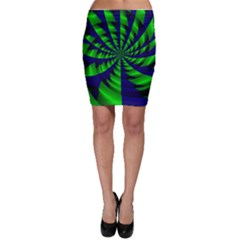 Green blue spiral Bodycon Skirt