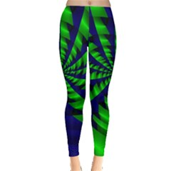 Green blue spiral Leggings