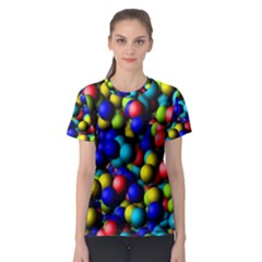 Colorful Balls Women s Sport Mesh Tee