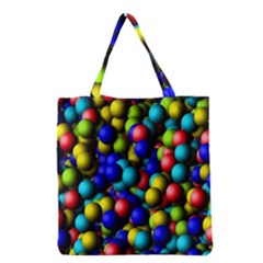 Colorful balls Grocery Tote Bag