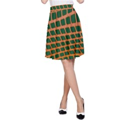 Distorted rectangles A-line Skirt