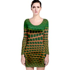 Distorted rectangles Long Sleeve Bodycon Dress