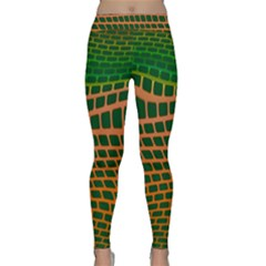 Distorted rectangles Yoga Leggings