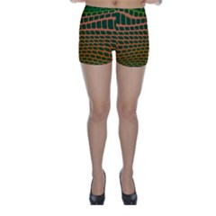 Distorted rectangles Skinny Shorts