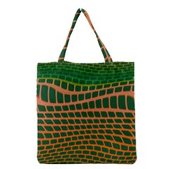 Distorted rectangles Grocery Tote Bag