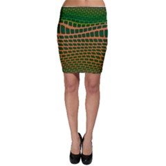 Distorted rectangles Bodycon Skirt