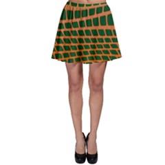 Distorted Rectangles Skater Skirt