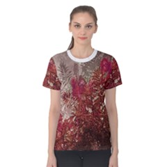 Floral Print Collage  Women s Cotton Tee