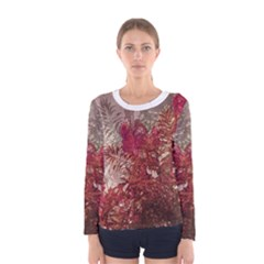 Floral Print Collage  Long Sleeve T Shirt (women)