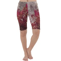 Floral Print Collage  Cropped Leggings